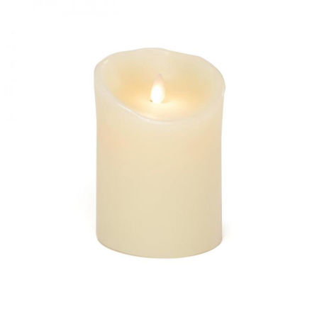 Picture of 13cm Dancing Flame Candle Cream B/O