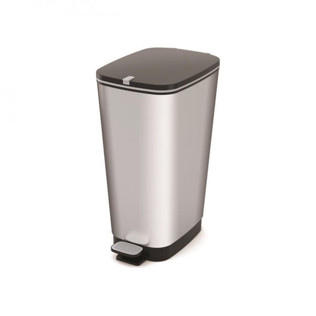 Picture of 4- 71556 CHIC PEDAL BIN LARGE STEEL 60LTR
