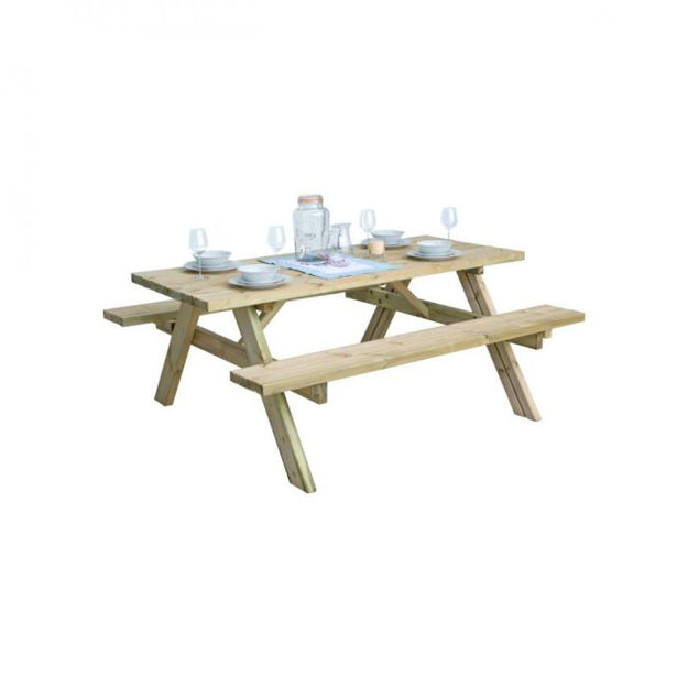 Picture of Pressure Treated Heavy Duty Picnic Bench