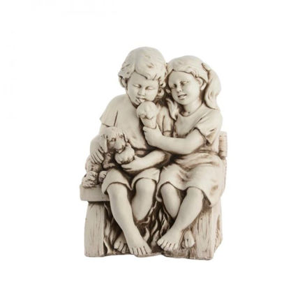 Picture of Children on Bench - 55cm