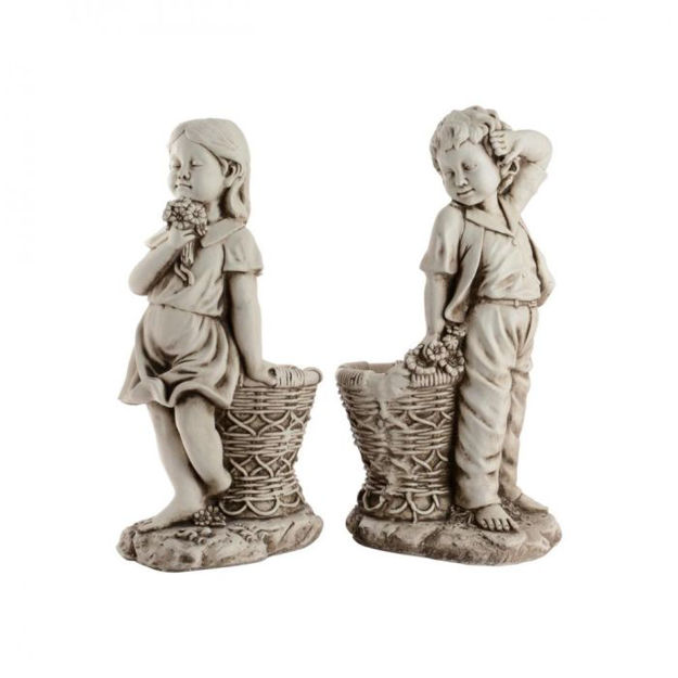 Picture of Boy & Girl with Planter - 2 Assorted