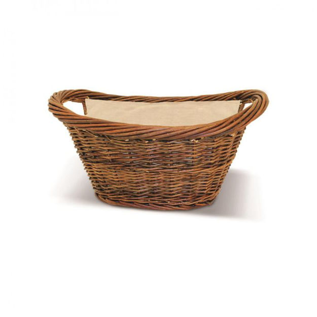 Picture of SIROCCO NAT WICKER OVAL BASKET WITH CANVAS