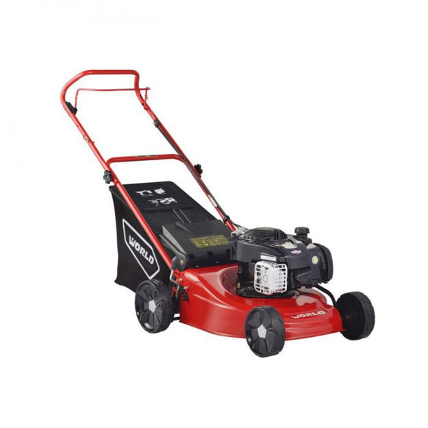 Picture of World Push Steel Deck Lawnmower With B & S 450e Engine -18in