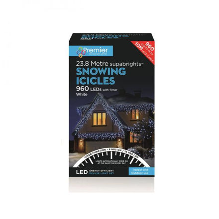 Picture of Premier 960 LED Multi-Action Snowing Iciclebrights  - White