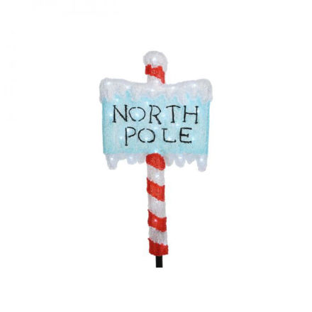 Picture of LED Acrylic North Pole Sign - 93cm