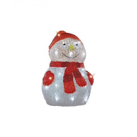 Picture of LED Acrylic Snowman - 35cm