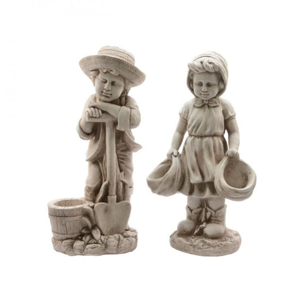 Picture of Children  with Planter 2 Assorted  - 67cm