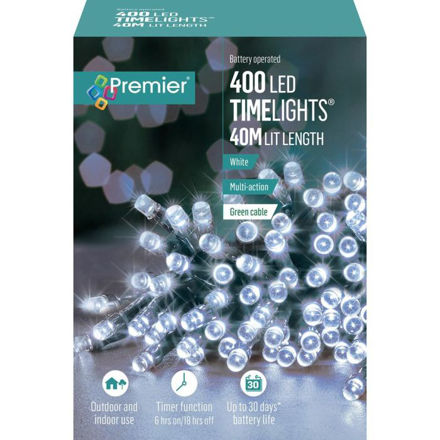Picture of 400 LED Battery Operated Timelights - White