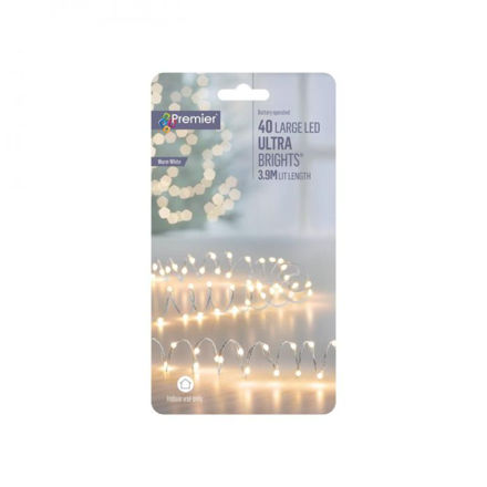 Picture of 40 Large LED Battery Operated Ultrabrights - Warm White