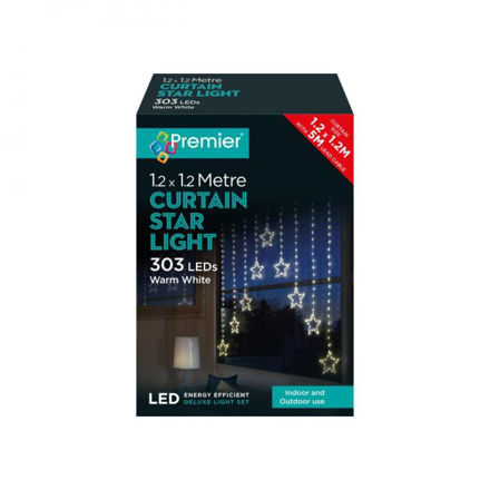 Picture of 303 LED Curtain Star Light Warm White - 1.2m x 1.2m