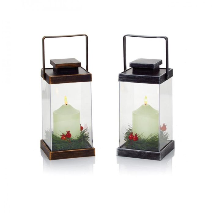 Picture of B/O Lanterns with Flickabright Candles 2 Assorted - 26cm