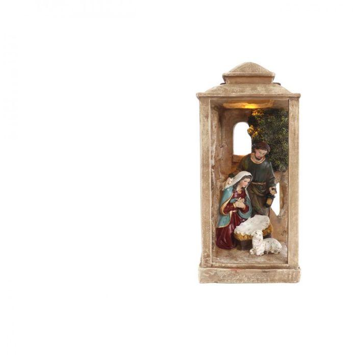 Picture of Decorative Lantern with Nativity Scene