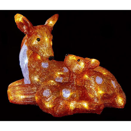 Picture of LED Acrylic Mother and Baby Deer - 35cm