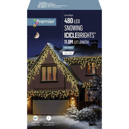 Picture of 480 LED Multi-Action Snowing Iciclebrights  - White
