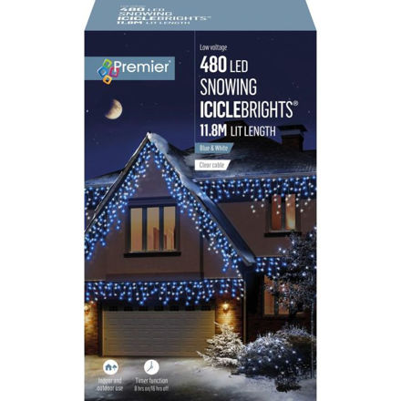Picture of 480 LED Multi-Action Snowing Iciclebrights  - Blue White