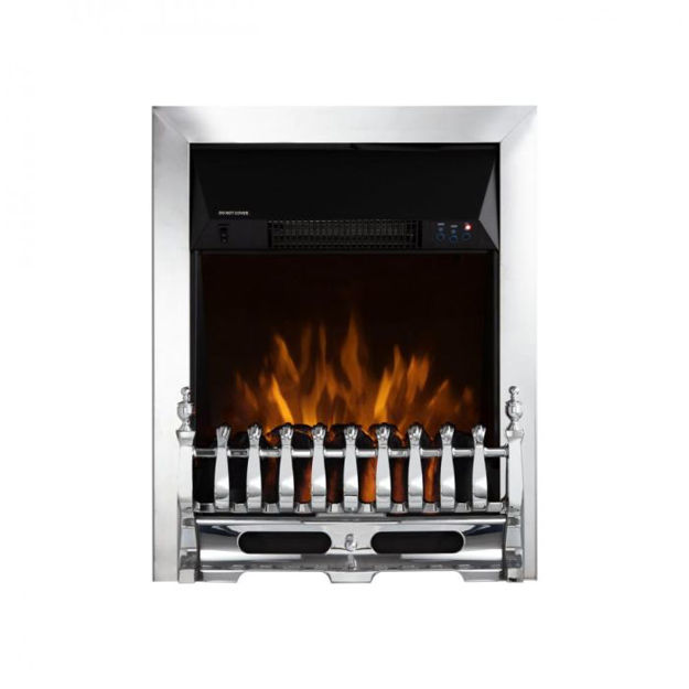 Picture of 160664 WARMLITE WHITBY CHROME ELECTRIC FIRE