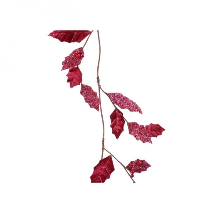 Picture of Red Leaf Garland with Berries  - 110cm