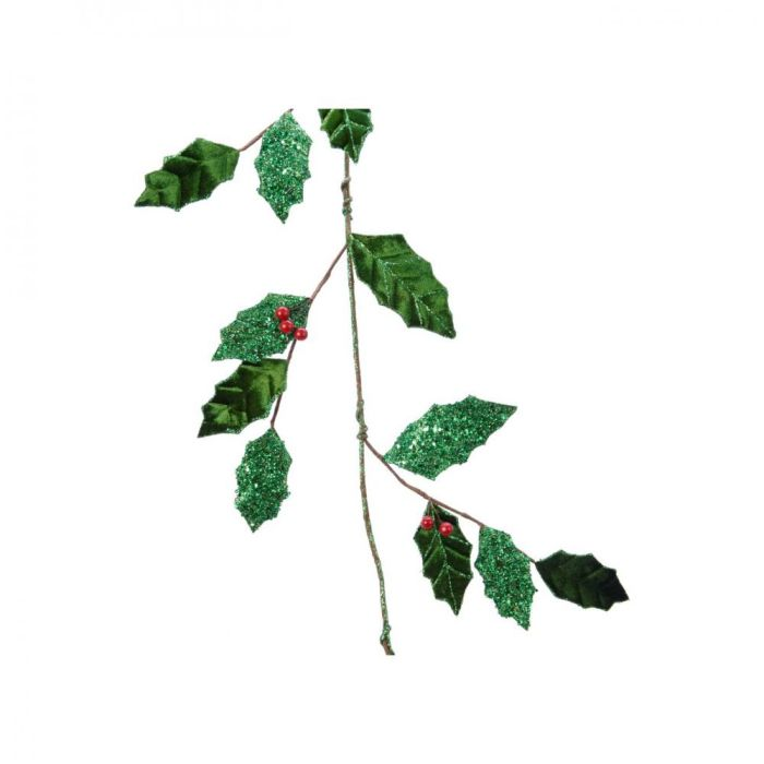 Picture of Green Leaf Garland with Berries  - 110cm