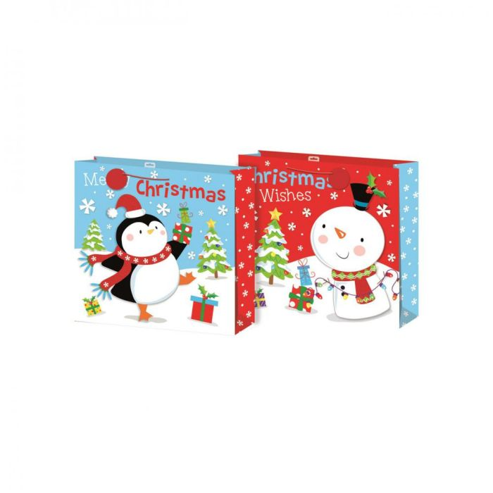 Picture of Cute Bears Christmas Gift Bag - Giant Size