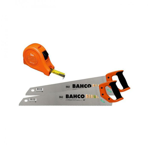 Picture of 40592 BAHCO TWIN PACK SAW SET + 5MTR TAPE