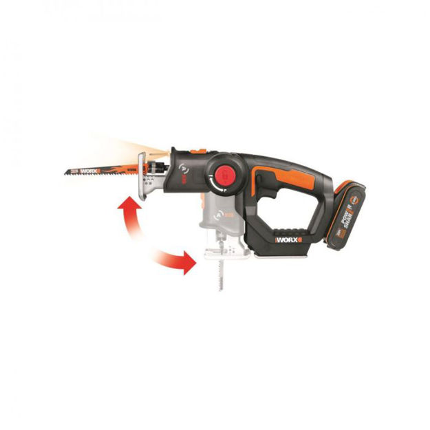 Picture of 40608 WORX 2 IN 1 CORDLESS RECIPROC& JIG SAW