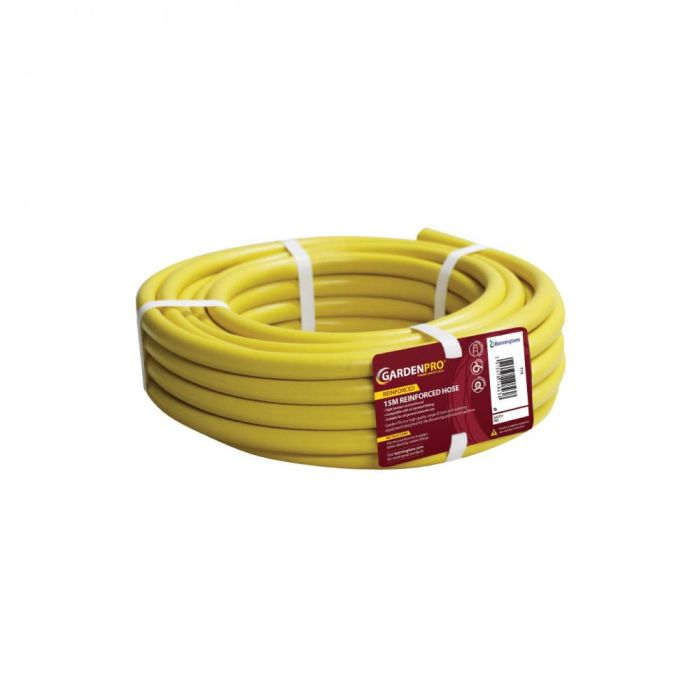 Picture of Yellow Reinforced Garden Hose - 15m