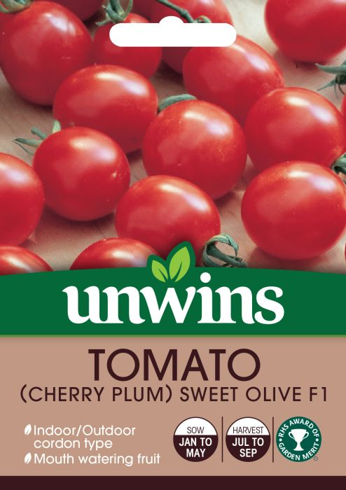 Picture of Unwins Tomato Plum Sweet Olive F1