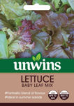 Picture of UnwinsLettuce Baby Leaf Mix  Seeds