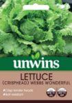 Picture of Unwins Lettuce Crisphead Webbs Wonderful