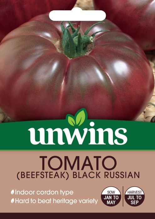 Picture of Unwins Tomato Black Russian Seeds