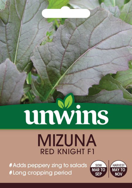 Picture of Unwins Mizuna Red Knight F1 Grosure Vegetable