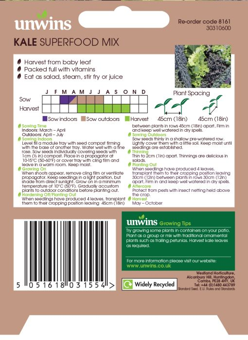 Picture of Unwins Kale Superfood Mix
