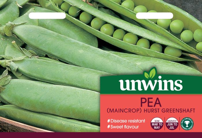 Picture of Unwins Pea Maincrop Hurst Greenshaft