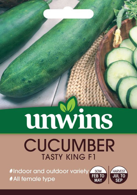 Picture of Unwins Cucumber Tasty King F1