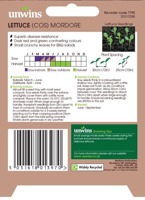 Picture of Unwins Lettuce Cos Mordore