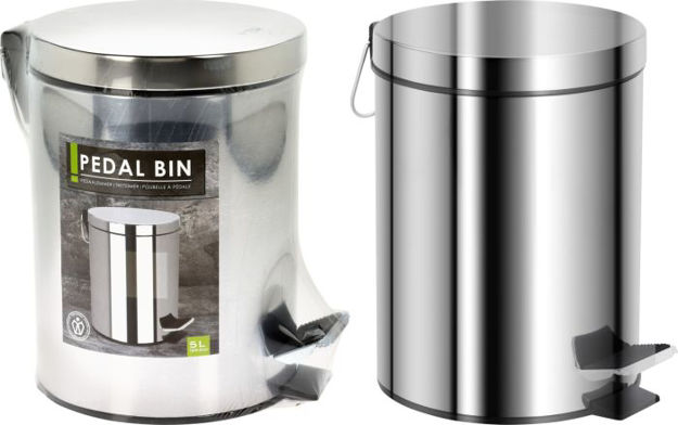 Picture of 170481430 5LTR PEDAL BIN STAINLESS STEEL