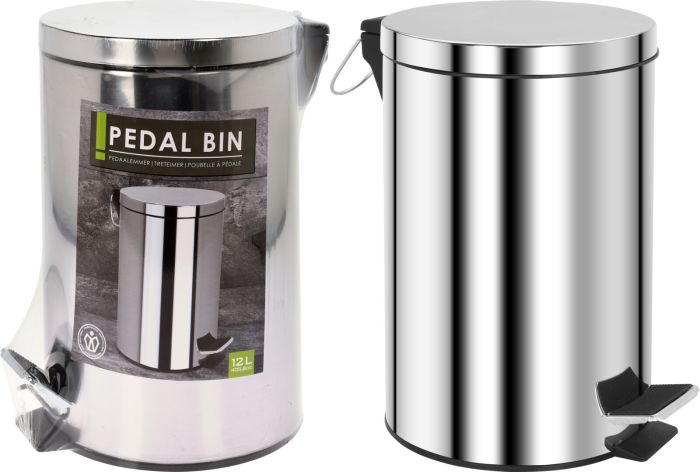 Picture of 170481440 12LTR PEDAL BIN STAINLESS STEEL