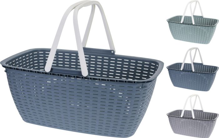Picture of Y54230920 LAUNDRY BASKET 35LTR 3ASS CLR