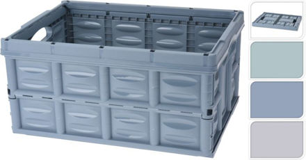 Picture of Foldable Crate 53x40x26cm 3ass