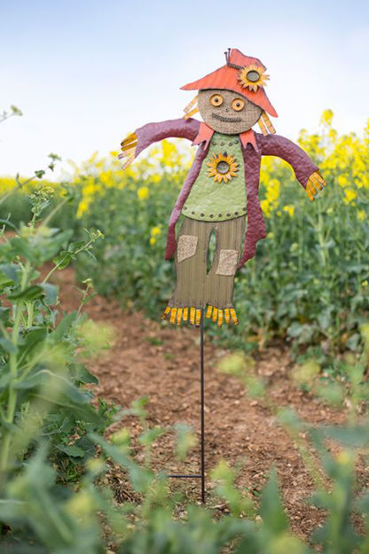 Picture of Garden Stake Moe Scarecrow