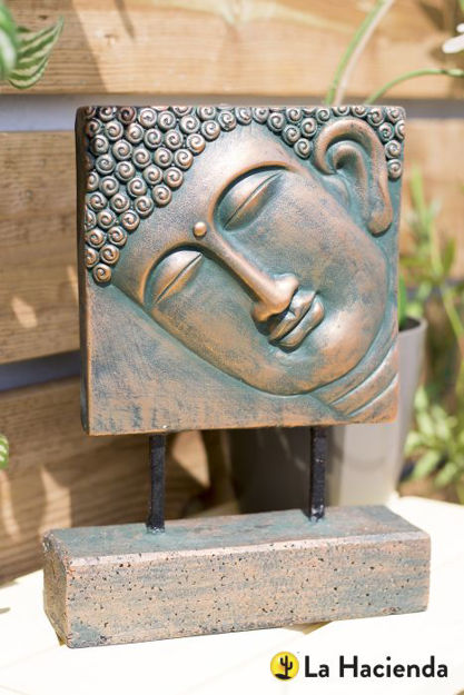 Picture of Female Buddha Head On Base S