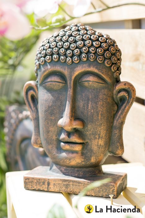 Picture of Male Buddha Head On Base S