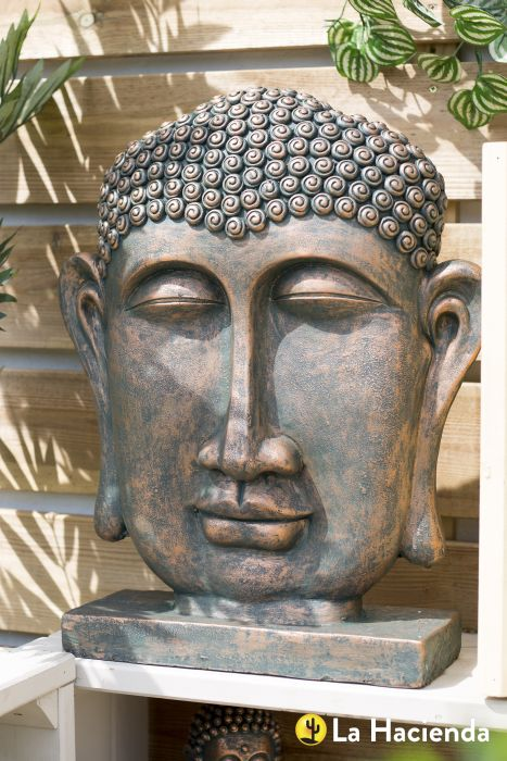 Picture of Male Buddha Head On Base Xl