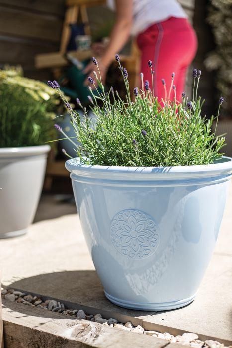 Picture of Eden Emblem Planter Blue 40cm