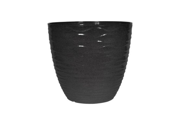 Picture of Windermere Glazed Planter Charcoal