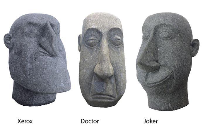 Picture of Head Joker 60cm H Nat Stone (2ft)