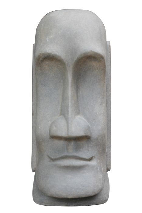 Picture of Tiki Head Form Stone Carved