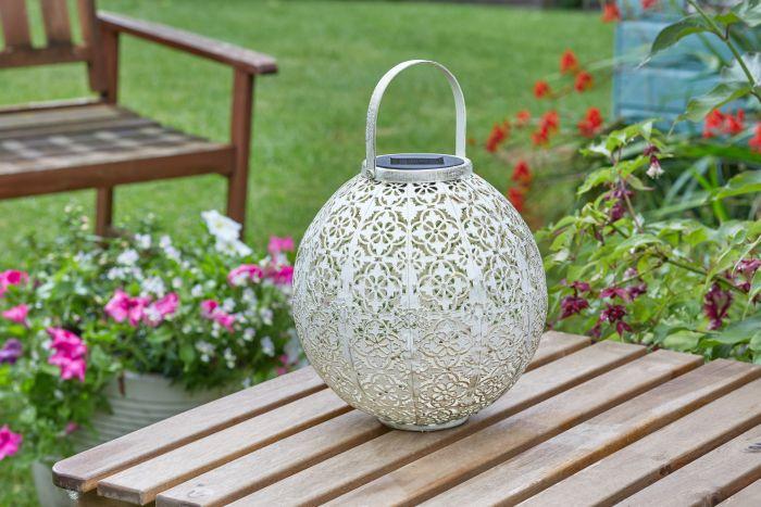 Picture of Damasque Cream Solar Lantern