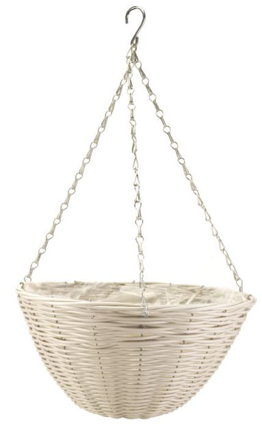 Picture of 14'' Seahsell Faux Rattan Basket