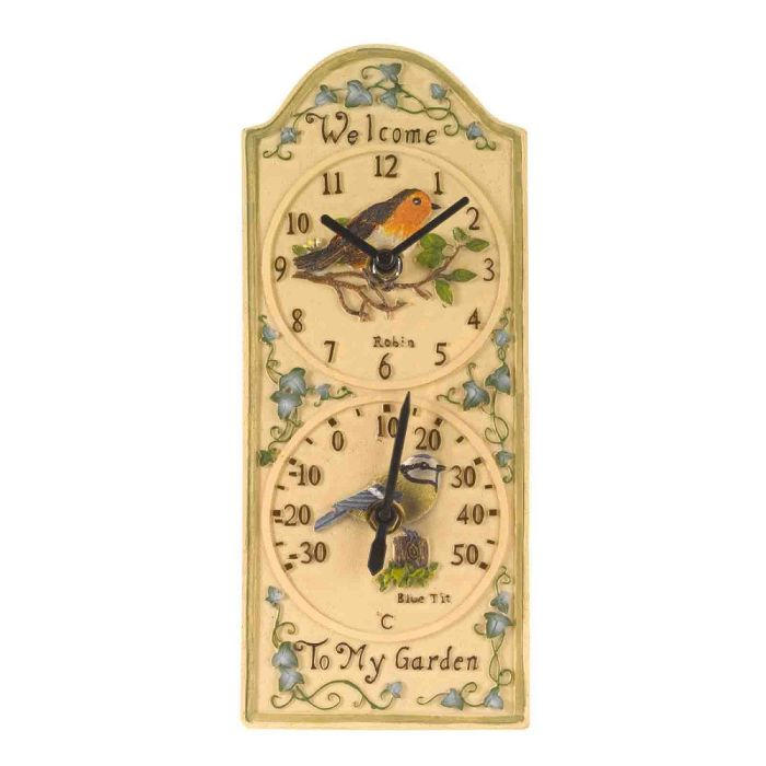 Picture of Birdberry Clock And Thermometer